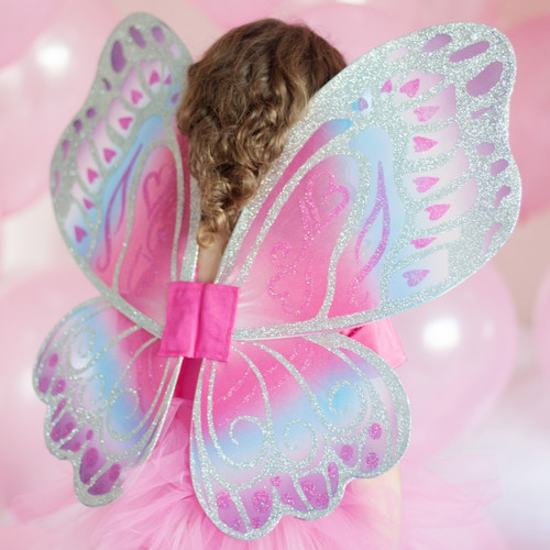 Pink and Blue Glimmerwind Fairy Wings