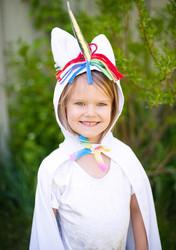 Toddler Unicorn Cape - Front