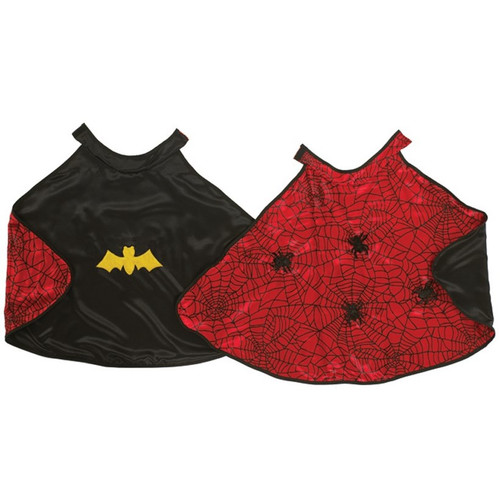Reversible Bat Spider Superhero Cape for Children