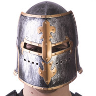 Medieval Helmet with Adjustable Mask