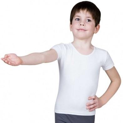 White Shirt Short Sleeves-Boys
