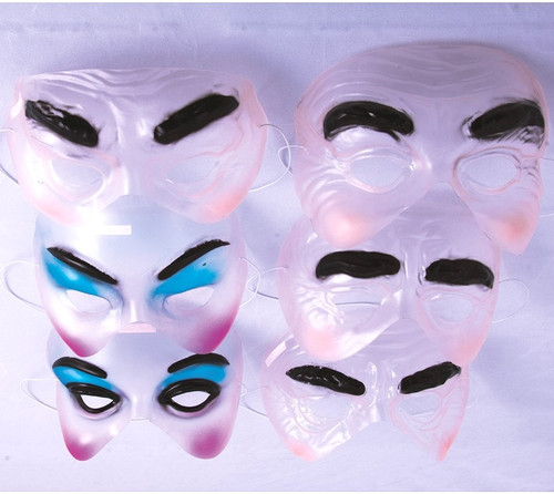 Mask Transparent Half Assorted