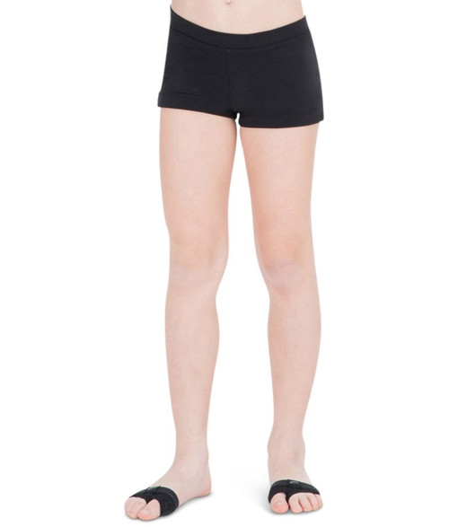 Shorts Low Rise Black Adult Boy Cut