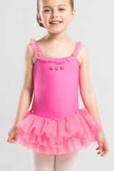 Dress Princess Rosette Tutu- Rose-Front