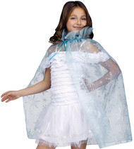 Cape Snowflake Child Elsa Frozen
