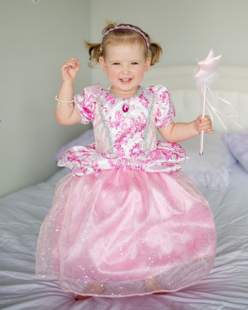 The Royal Pretty Pink toddler Gown at home