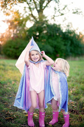 Lilac Diamond Sparkle Cape - Front