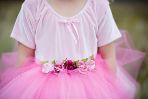Dark Pink Baby Tutu - Close Up
