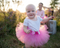 Dark Pink Baby Tutu - On Baby