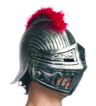 Knight Helmet with Feather Trim