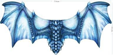 Ice Blue Dragon Wing