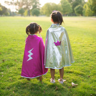 Reversible Pink/Silver Cape