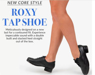 Capezio Roxy Tap Shoe - Black Leather Wingtip
