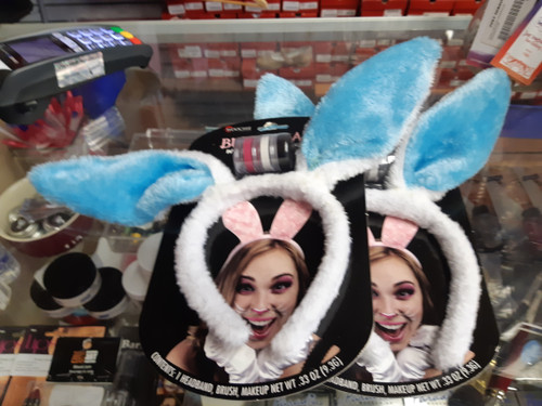 Bunny ears and makeup kit by Woochie