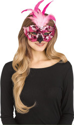 Flamingo Sequin Mask