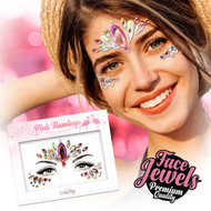 Pink Flamingo Face Jewels