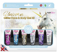 Unicorn Glitter Face and Body Gel Kit