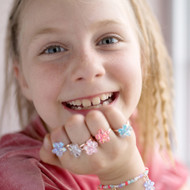 Shimmer Flower Rings