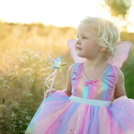 Rainbow Sequins Skirt, Wings and Wand Set