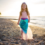 Lilac and Blue Mermaid Skirt and Crown