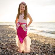Pink Mermaid Skirt and Crown