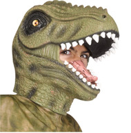 Green T-Rex Latex Mask