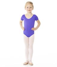 Mondor Essentials Cap Sleeve Bodysuit - Front - Violet