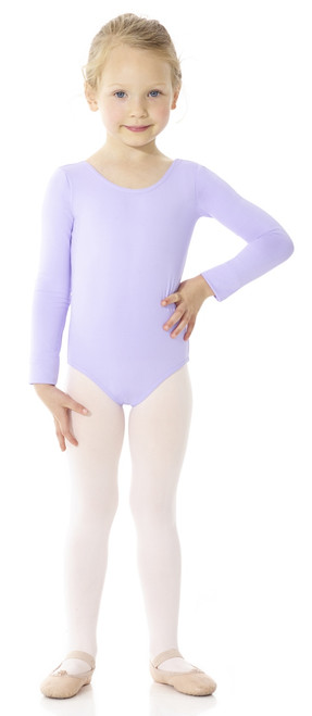 Mondor Essentials Long Sleeve Bodysuit - Front - Lilac