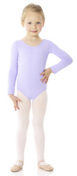Mondor Essentials Long Sleeve Bodysuit - Front - Lilac