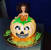 Pumpkin Doll 3D Cake
