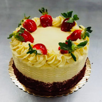 Tres Leches Cake {Flan & Strawberry} F-25