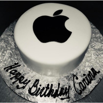 11087 apple logo fondant