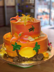 Tropical Sunset Lilly Cake