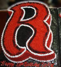 """Model# 91001 - 3D Letter """"R"""" Cake"""