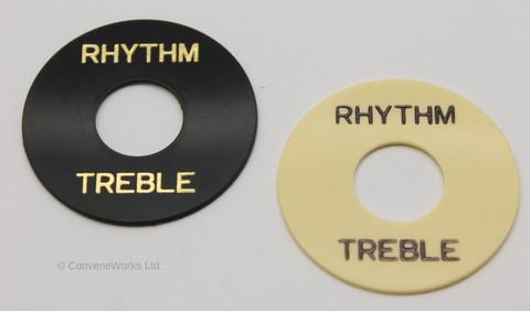 """Rhythm / Treble"" pickup selector switch - ring surround / washer"