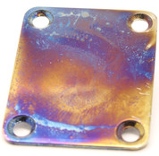Iridium (burnt chrome) finish rectangular neck plate