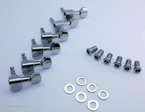 2 Pin, No Screw Machine Heads