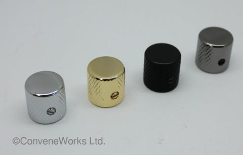 Metal Control Knob, Flat Top, Locking