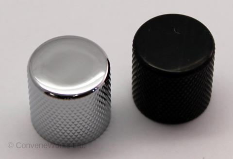 Metal Control Knob, Flat Top, Push Fit