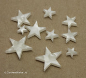 "White Pearloid ""Star"" Fingerboard / Fretboard Inlay Set"