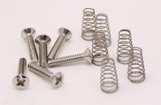 Six Single Coil Screws & Springs, Countersunk