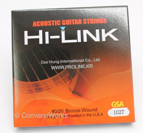 Proline Hi-Link Premium 12 String Acoustic Guitar Strings