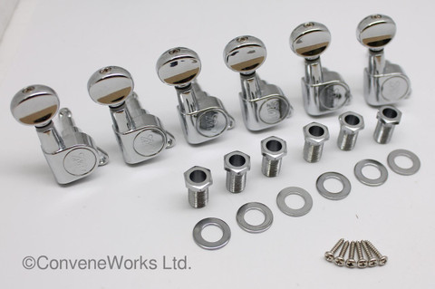 Wilkinson® WJ05 (WJ05CR) EZ-Lok 6 In line Machine Heads/Tuners