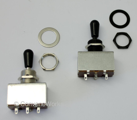 Box-type three way toggle (pickup selector) switch