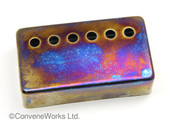 Iridium (burnt chrome) finish humbucker pickup cover, 50mm spacing (neck)