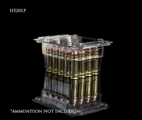 TAC-PAC® H520LP 20 Count Clear Ammo Box for .458 SOCOM and 500 S & W Magnum