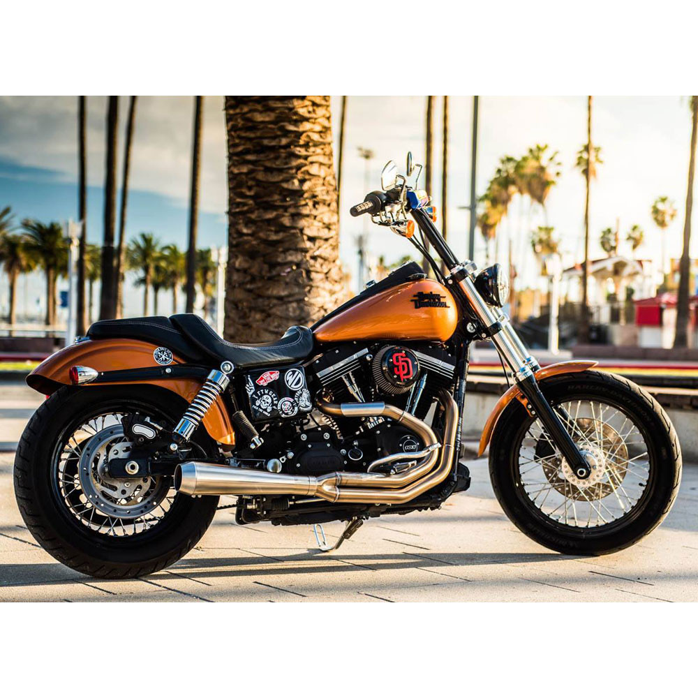 Bassani Road Rage III Stainless Exhaust for 1991-2016 Harley Dyna