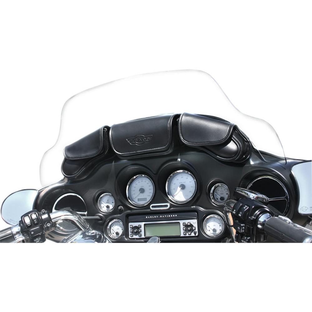 T-Bags 3-Pocket Windshield Bag for 1993-2013 Harley Touring