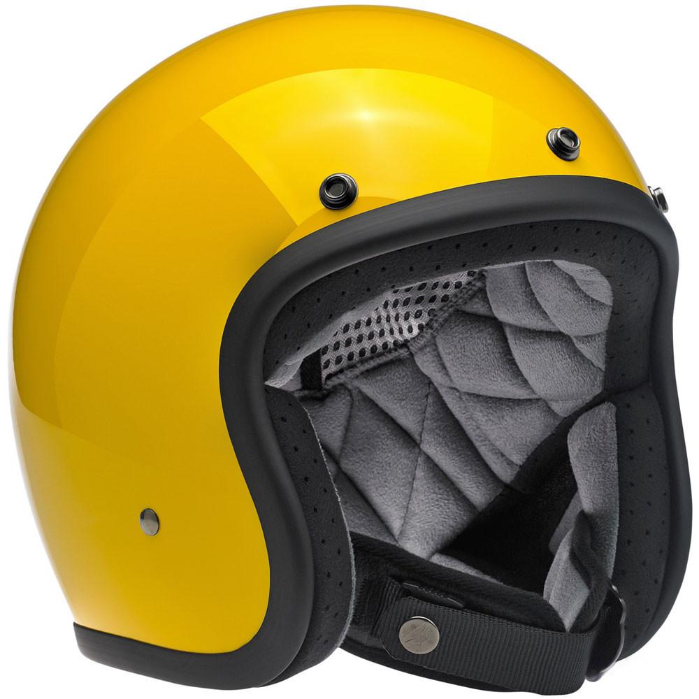 Biltwell Bonanza Helmet - Safe-T Yellow