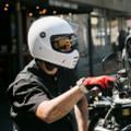 Biltwell Lane Splitter Helmet Gloss White
